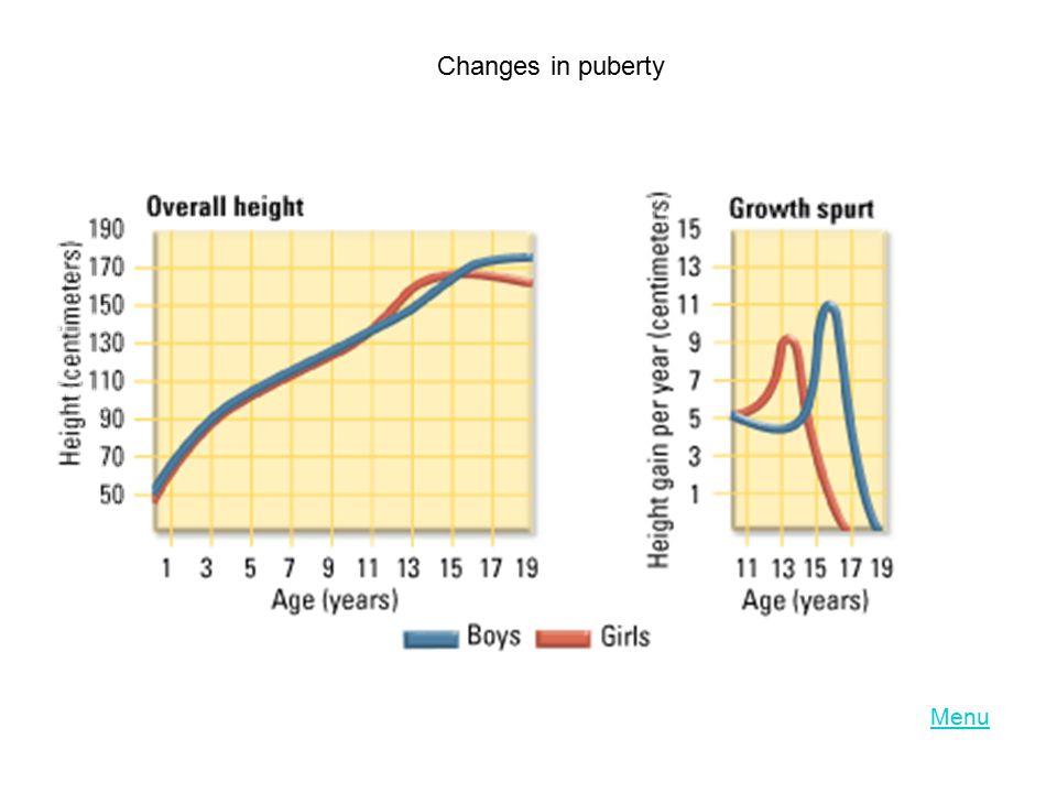 Changes in puberty Menu