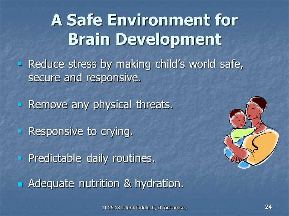 A Safe Environment for Brain Development