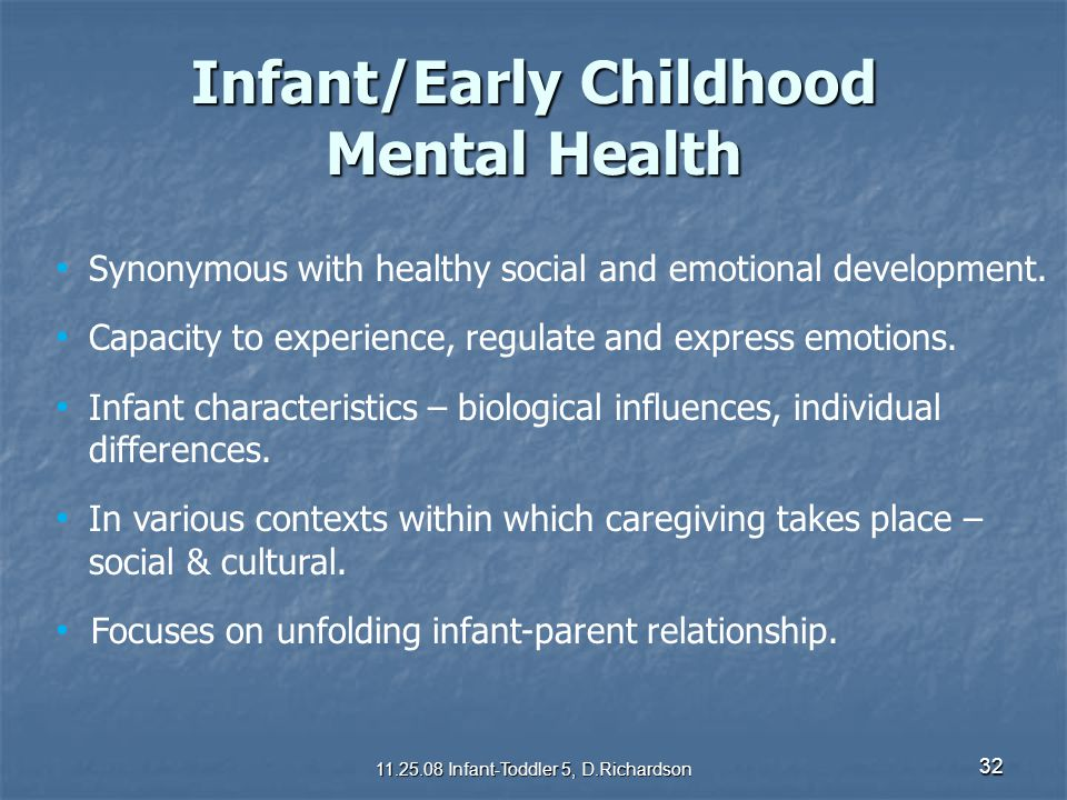 Infant/Early Childhood Mental Health