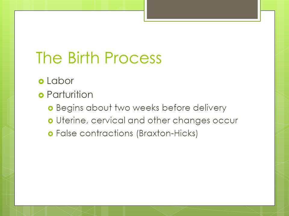 The Birth Process Labor Parturition