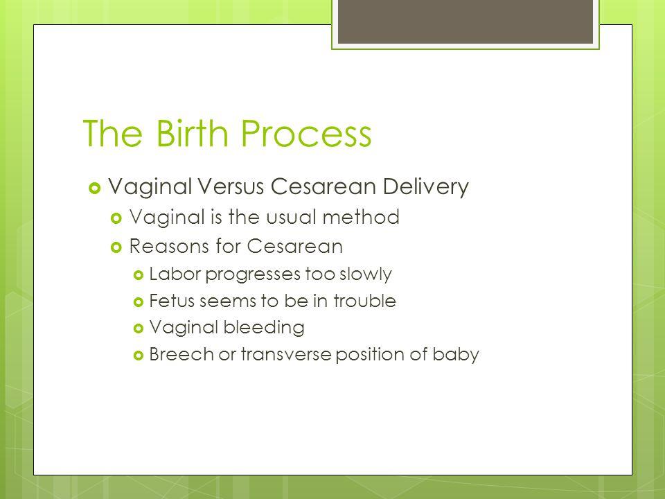 The Birth Process Vaginal Versus Cesarean Delivery