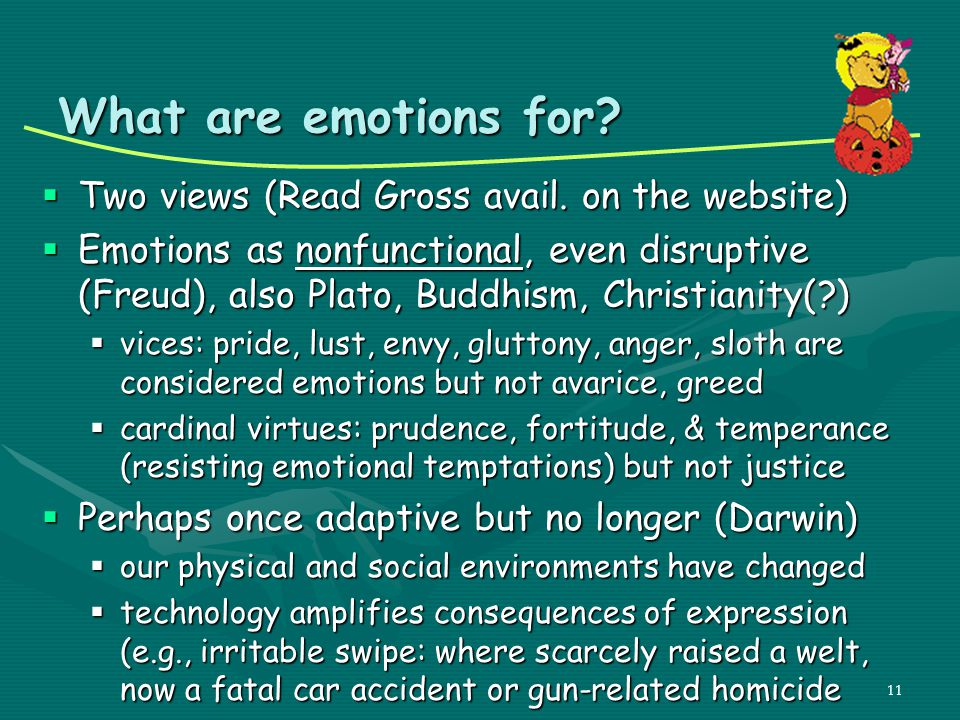 What are emotions for Two views (Read Gross avail. on the website)