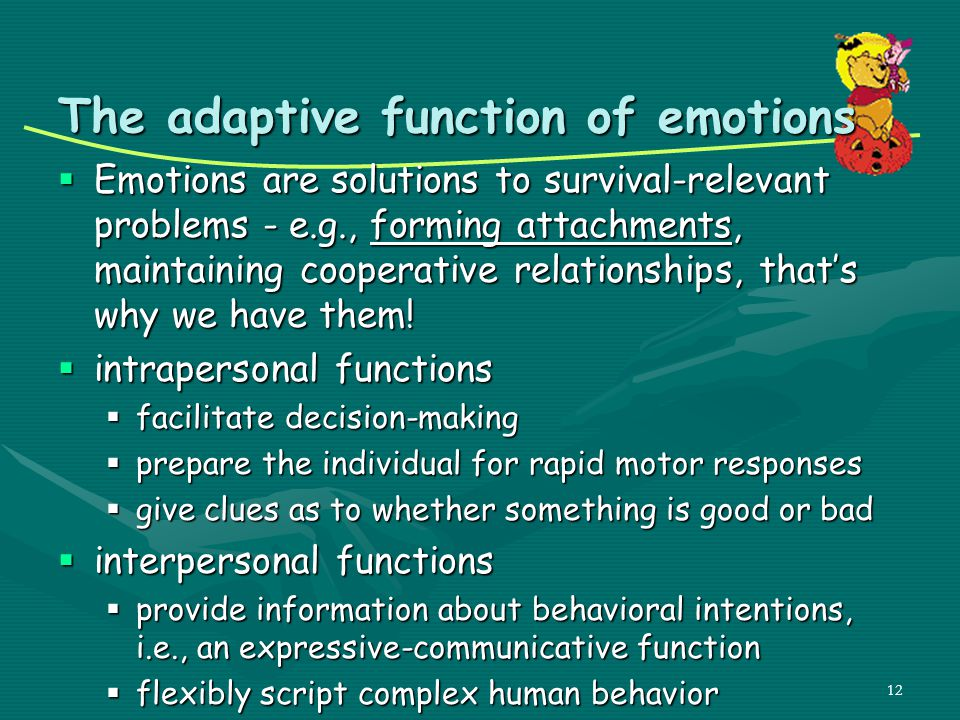 The adaptive function of emotions