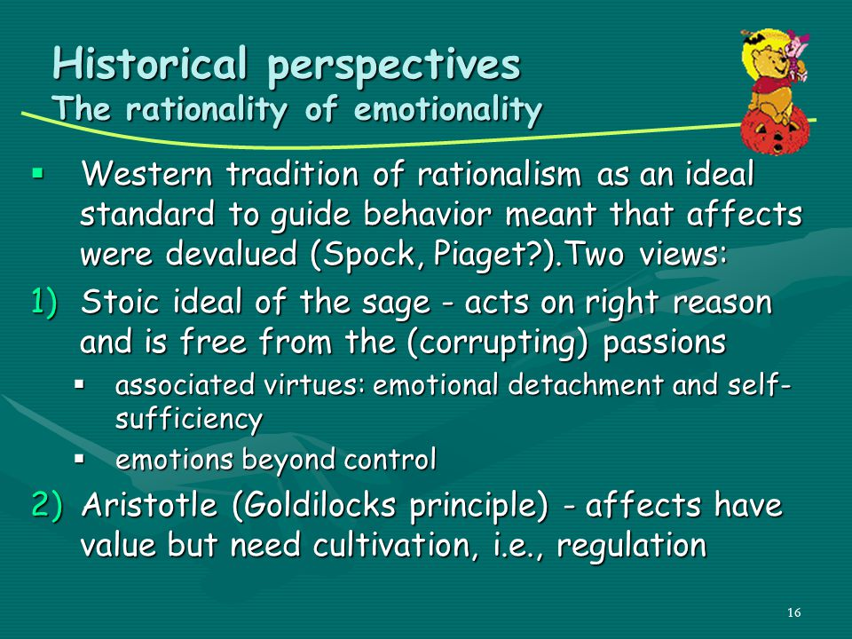 Historical perspectives The rationality of emotionality