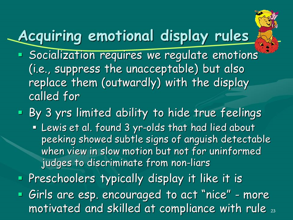 Acquiring emotional display rules