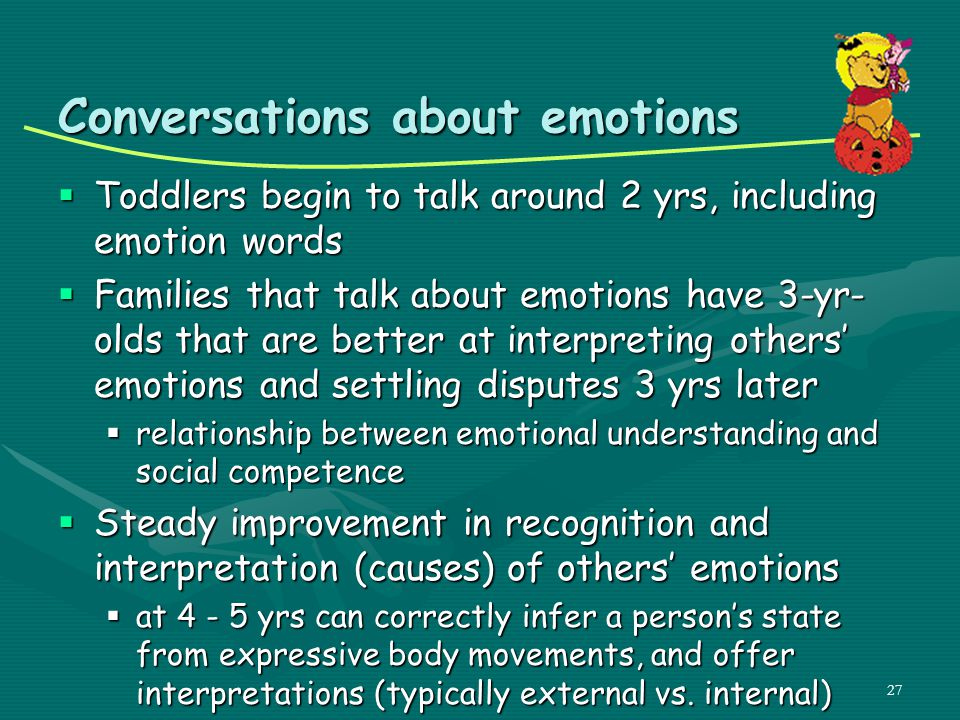 Conversations about emotions