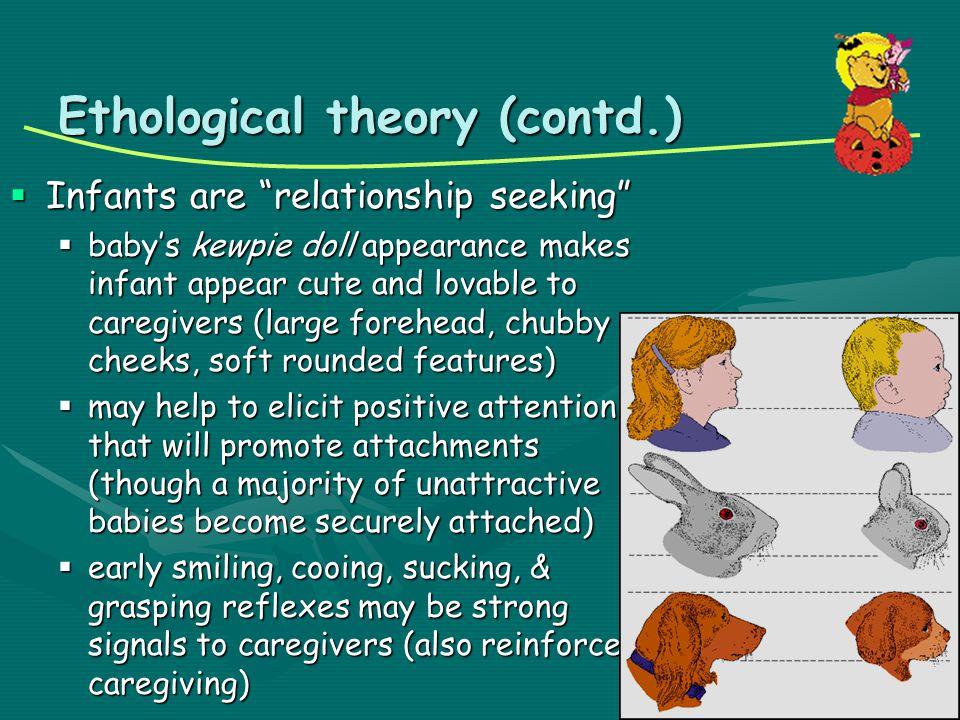 Ethological theory (contd.)