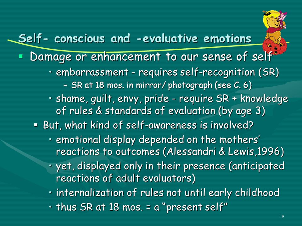 Self- conscious and -evaluative emotions