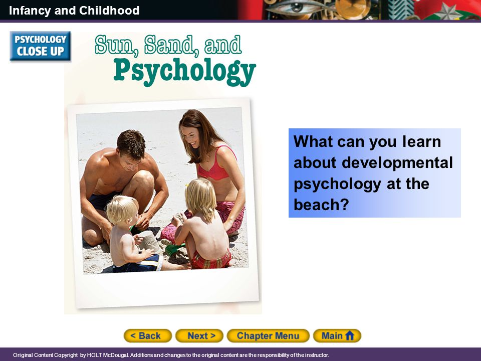 What can you learn about developmental psychology at the beach