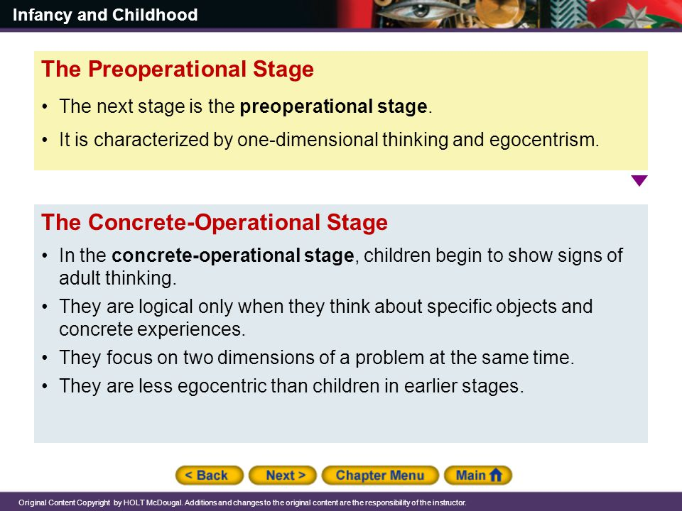 The Preoperational Stage
