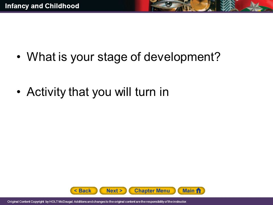 What is your stage of development