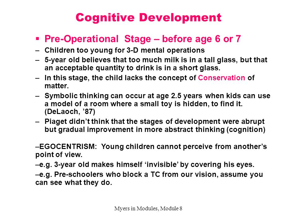 """cognitive development ages 3 to 5 Your three-year-old will spend most of her waking hours questioning everything that happens around her she loves to ask """"why do i have to    """" and she'll pay close attention to your answers as long as they're simple and to the point don't feel that you have to explain your rules."""