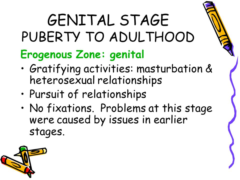 GENITAL STAGE PUBERTY TO ADULTHOOD
