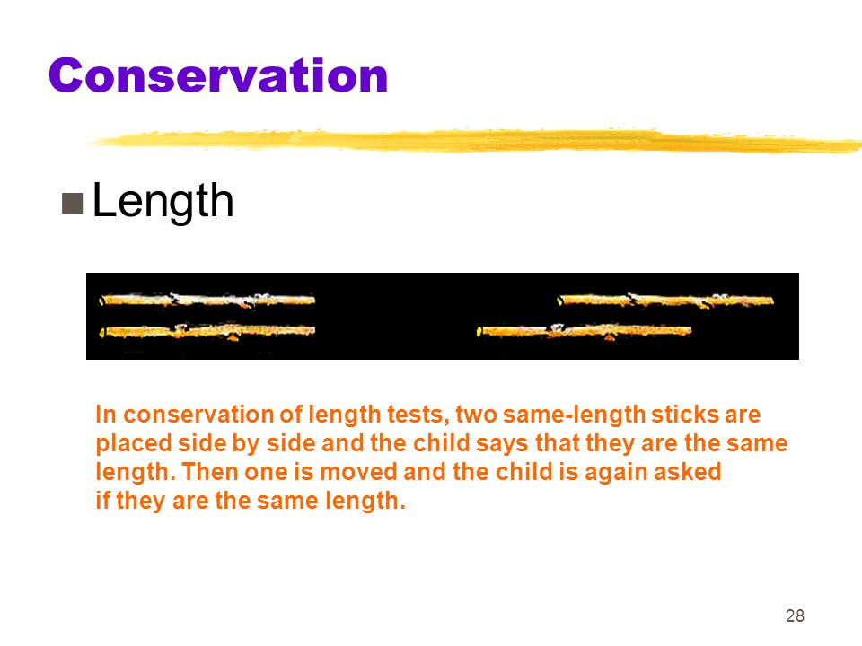 Conservation Length Keywords piaget, conservation