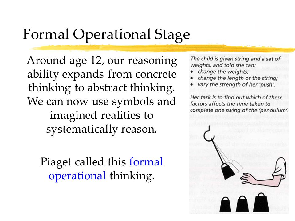 research about formal operational stage pendulum