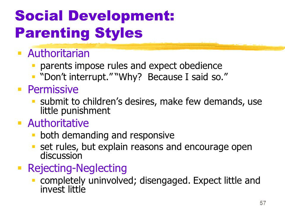 Social Development: Parenting Styles