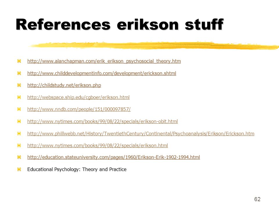 References erikson stuff
