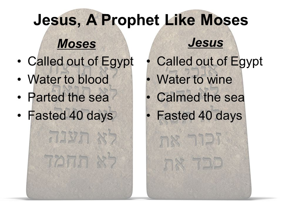 Jesus, A Prophet Like Moses