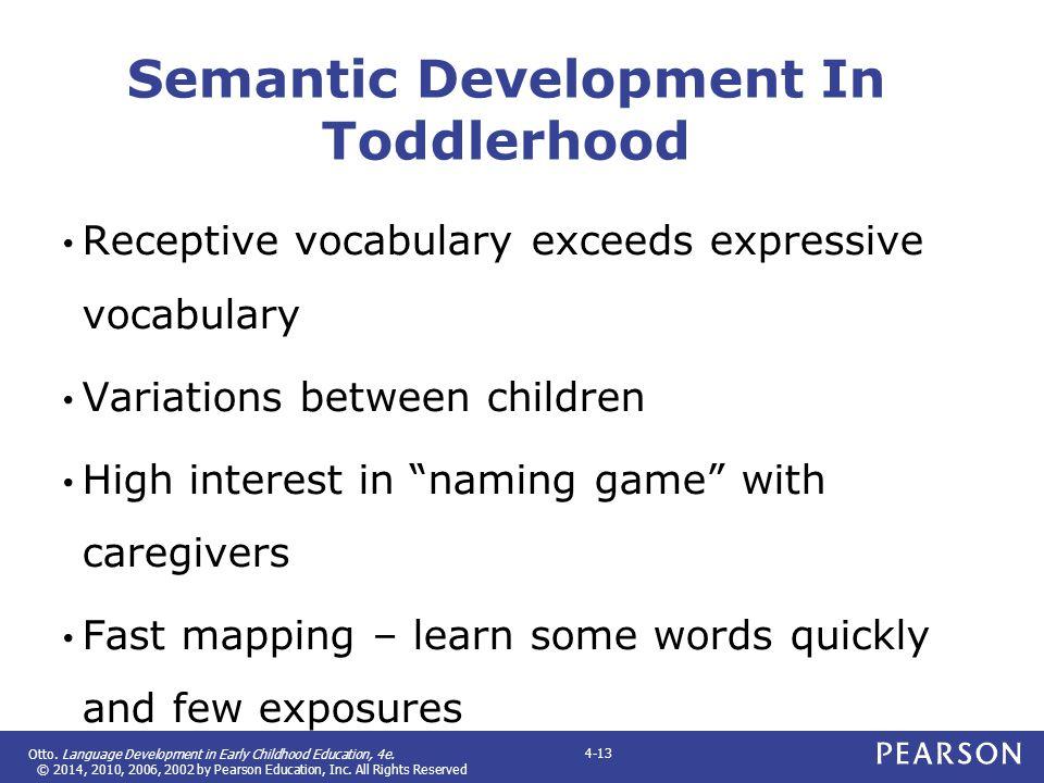 Semantic Development In Toddlerhood