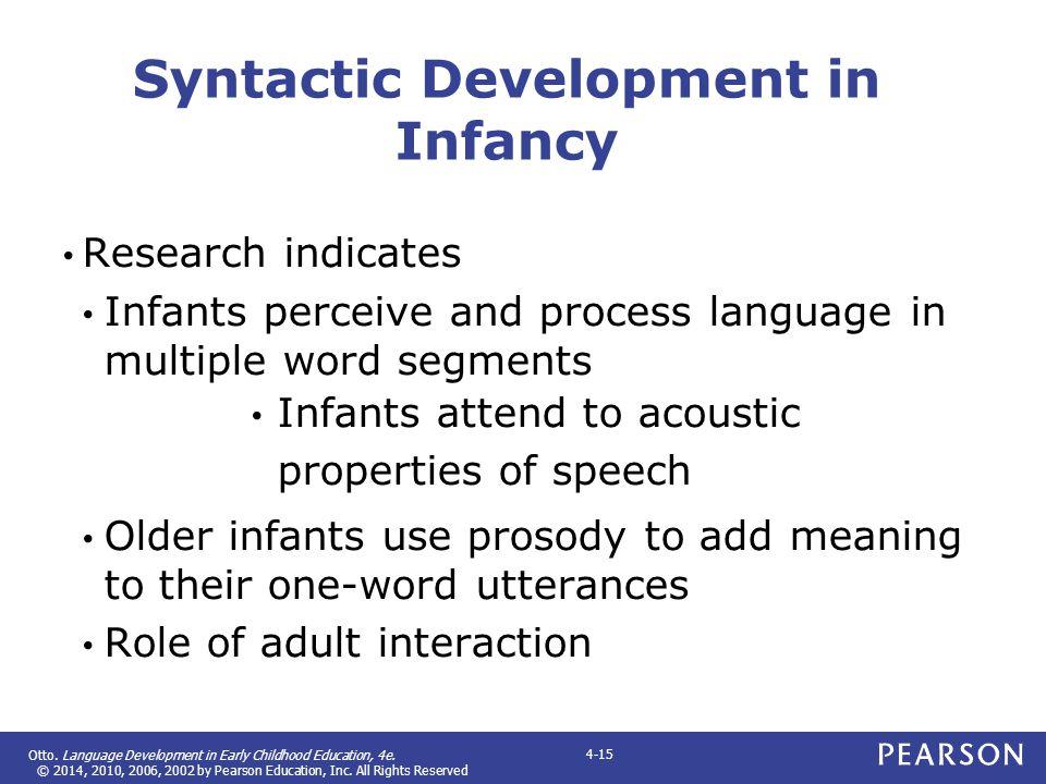 Syntactic Development in Infancy