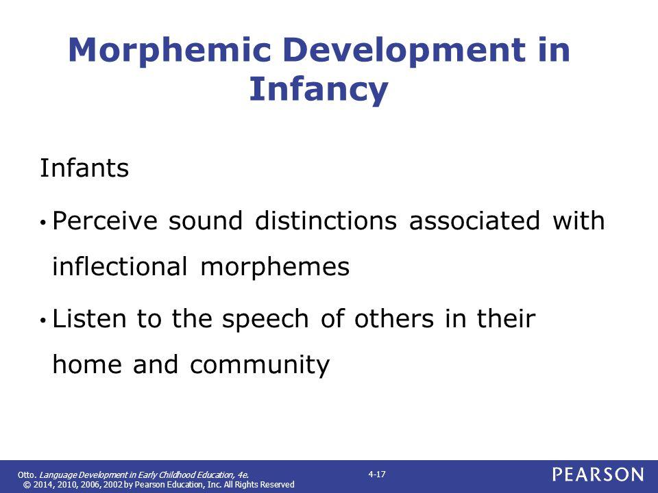 Morphemic Development in Infancy