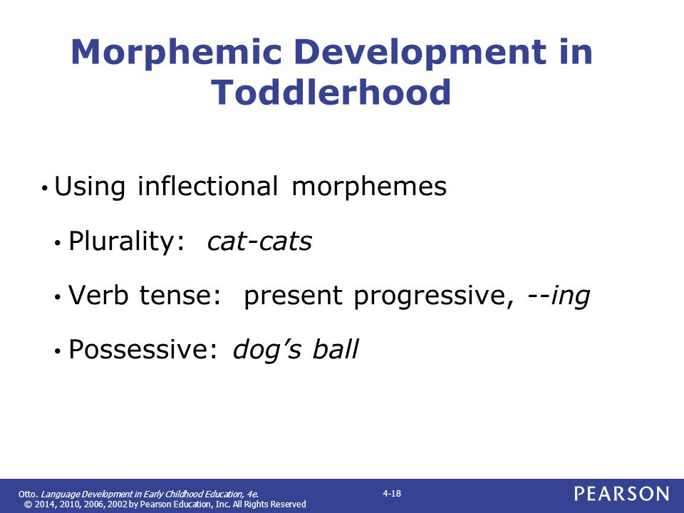 Morphemic Development in Toddlerhood