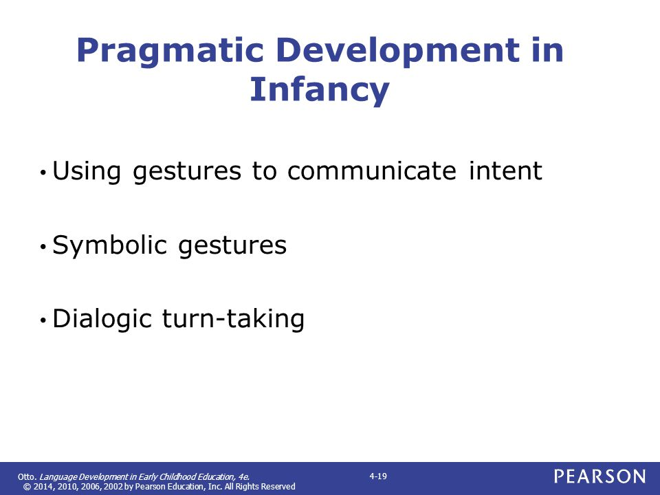 Pragmatic Development in Infancy