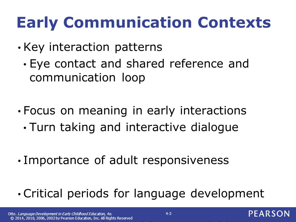 Early Communication Contexts