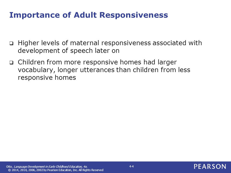 Importance of Adult Responsiveness