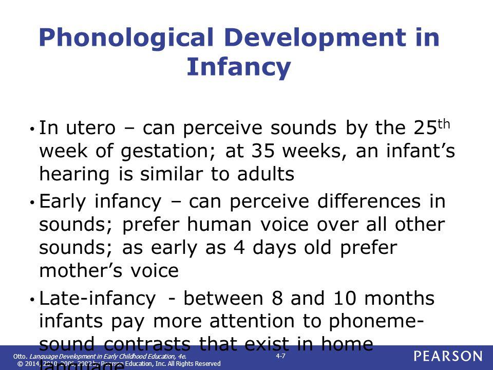Phonological Development in Infancy