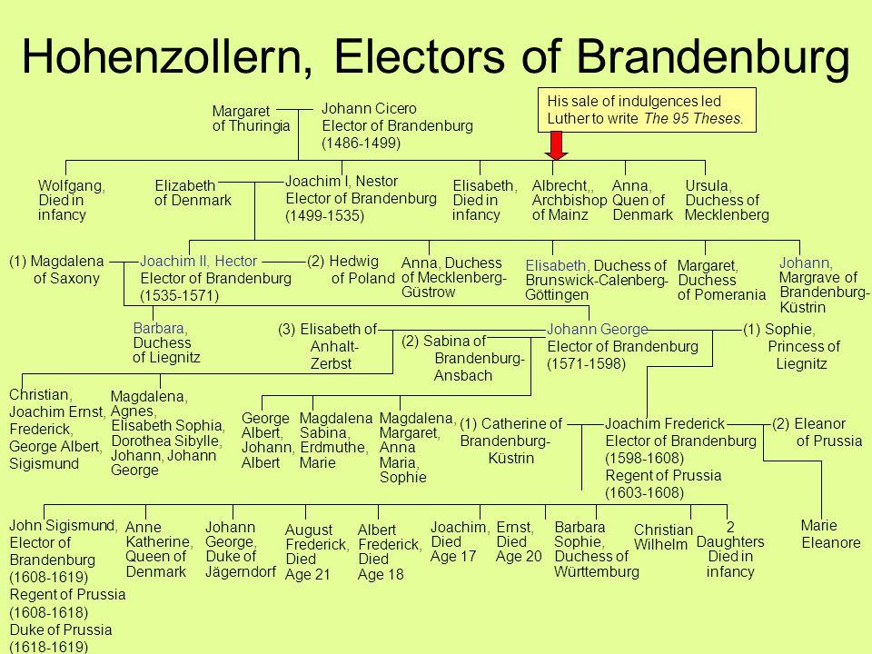 Hohenzollern, Electors of Brandenburg