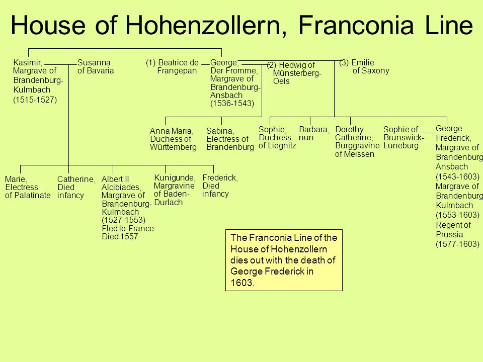 House of Hohenzollern, Franconia Line