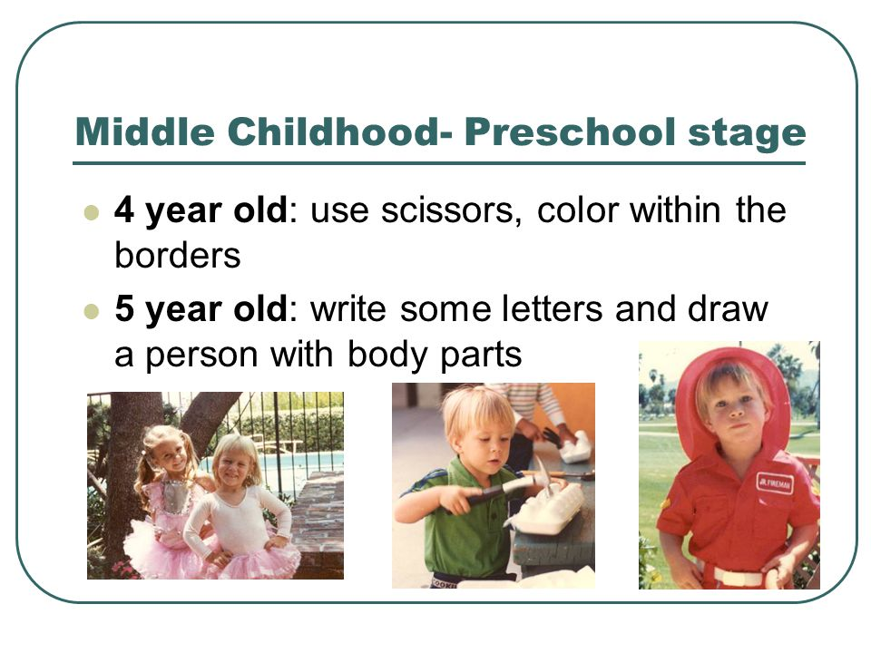Middle Childhood- Preschool stage