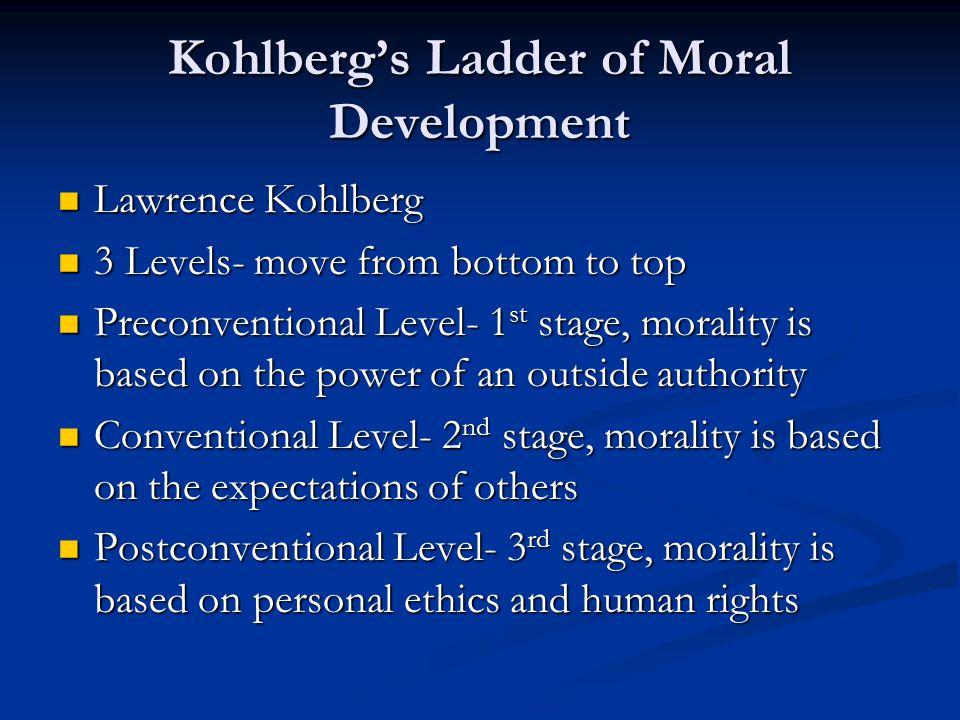 Kohlberg's Ladder of Moral Development