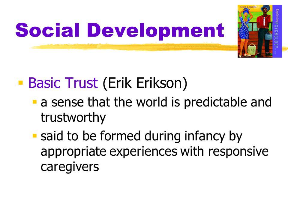 Social Development Basic Trust (Erik Erikson)