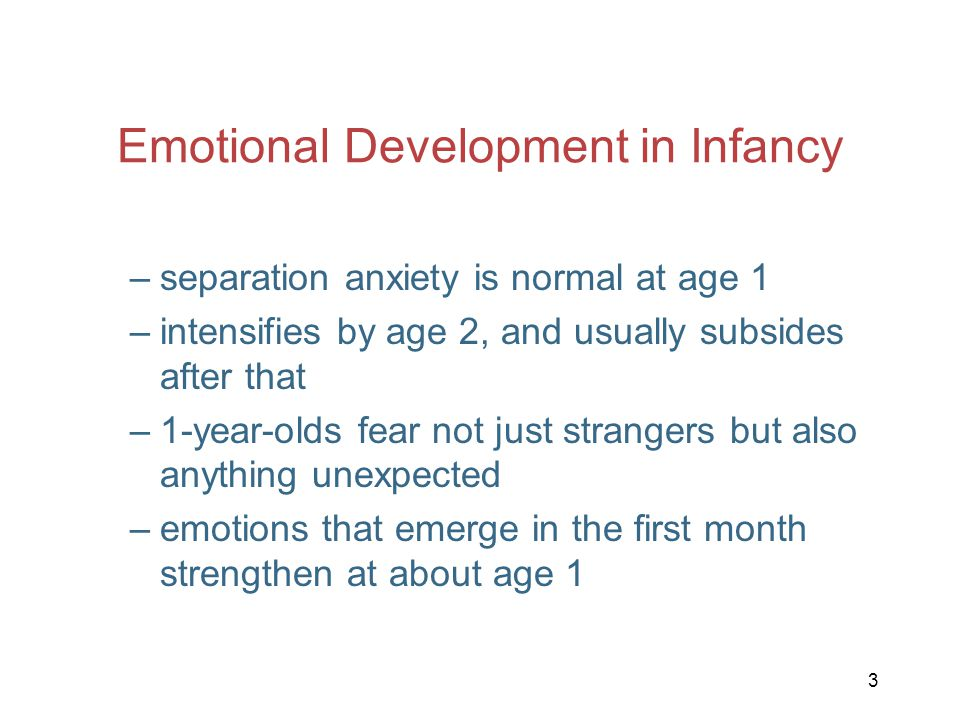 Emotional Development in Infancy