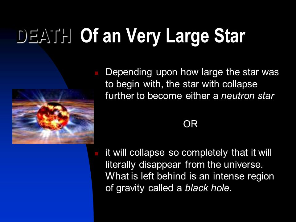 DEATH Of an Very Large Star