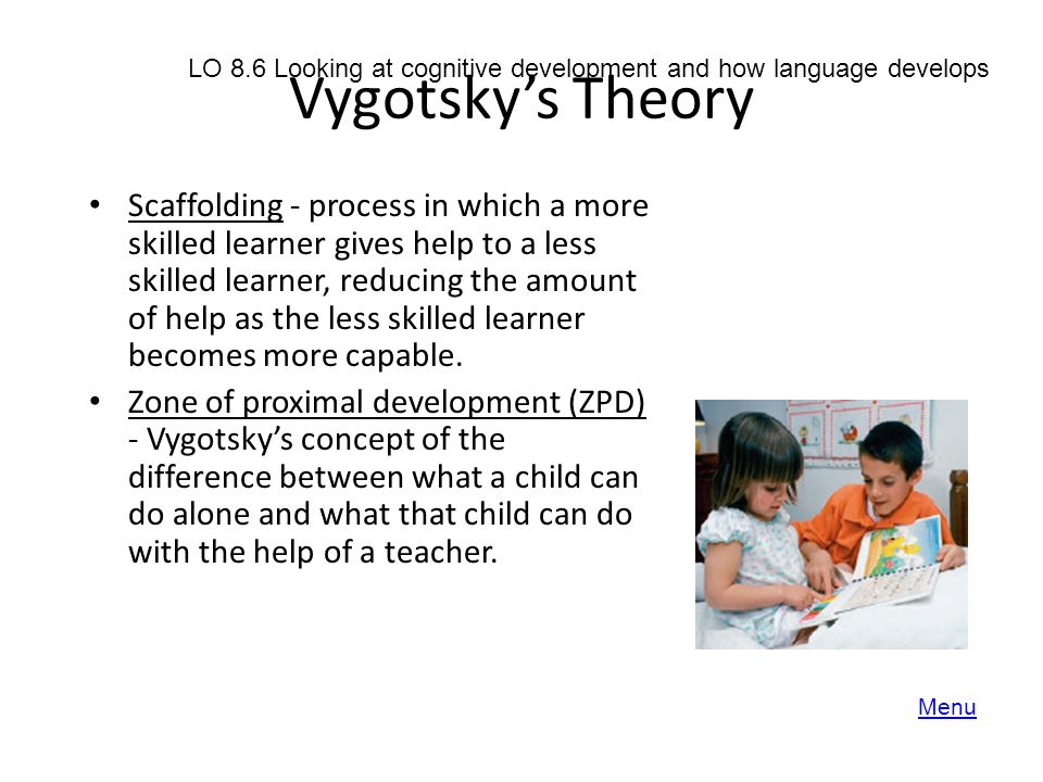 development of cognition and language The cognitive development of a 5-year-old child is action-packed as they start kindergarten and learn math, reading, concepts, and games.