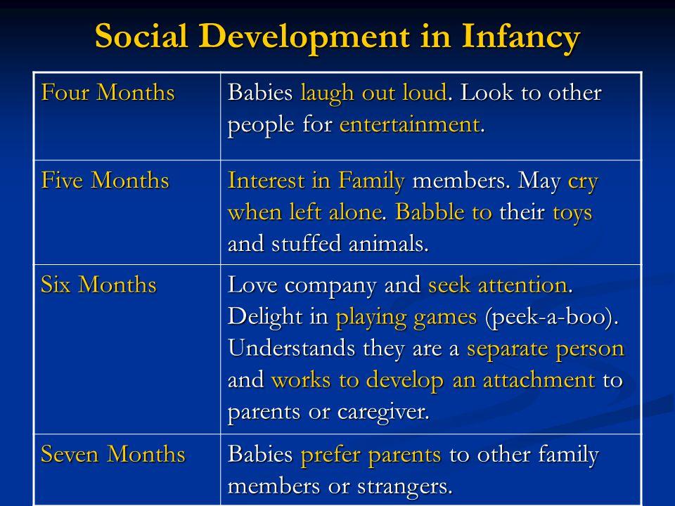 Social Development in Infancy