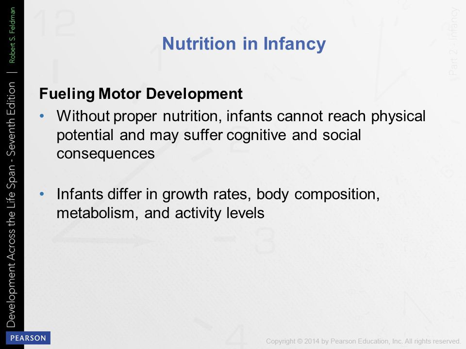 Nutrition in Infancy Fueling Motor Development