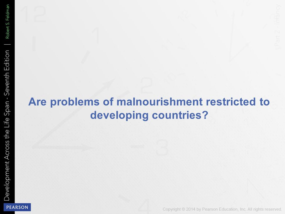 Are problems of malnourishment restricted to developing countries