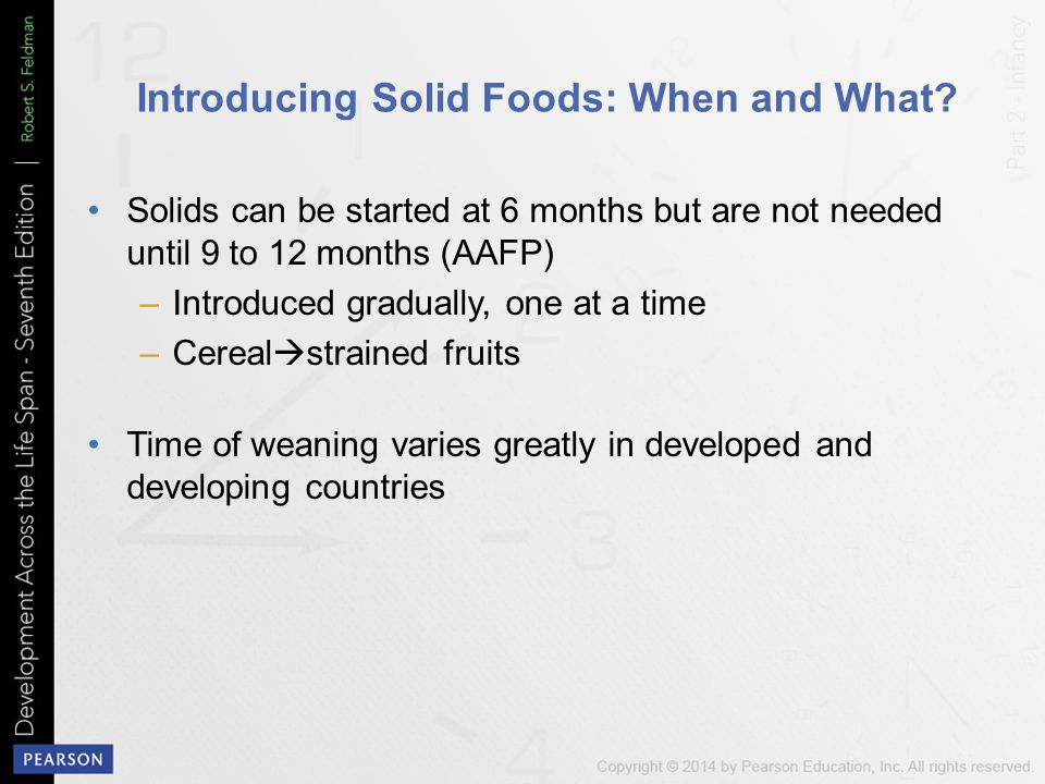Introducing Solid Foods: When and What
