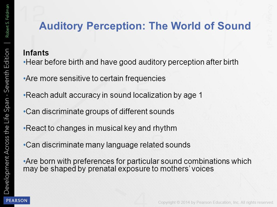 Auditory Perception: The World of Sound