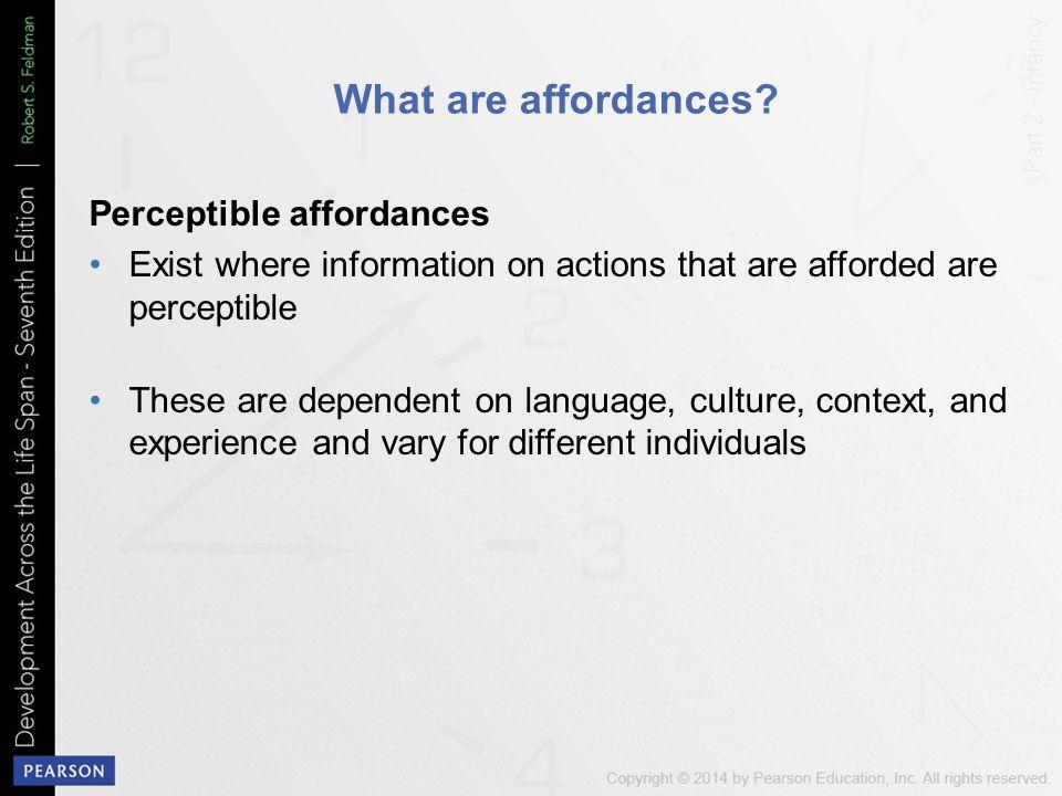What are affordances Perceptible affordances