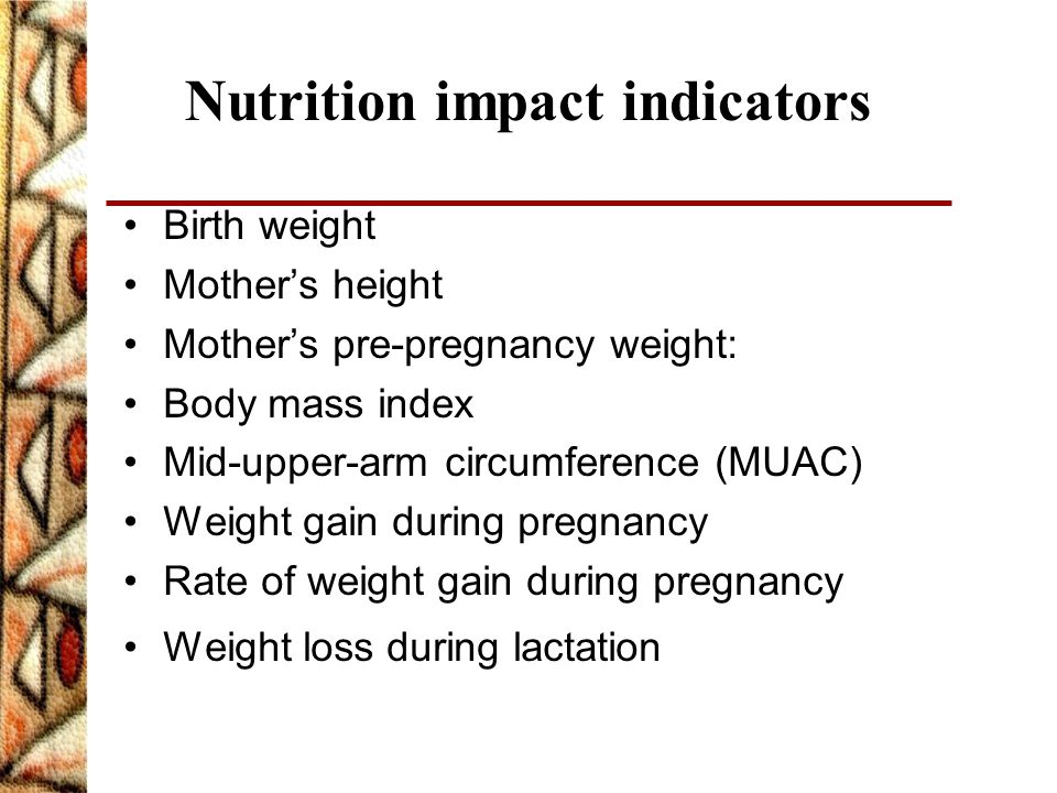 Nutrition impact indicators