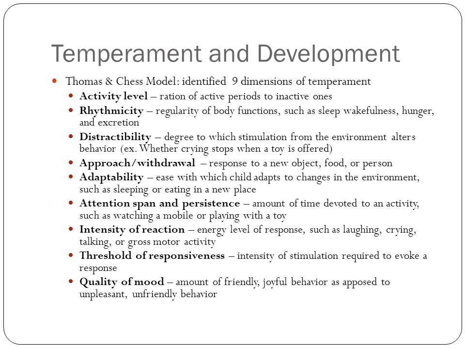 Temperament and Development