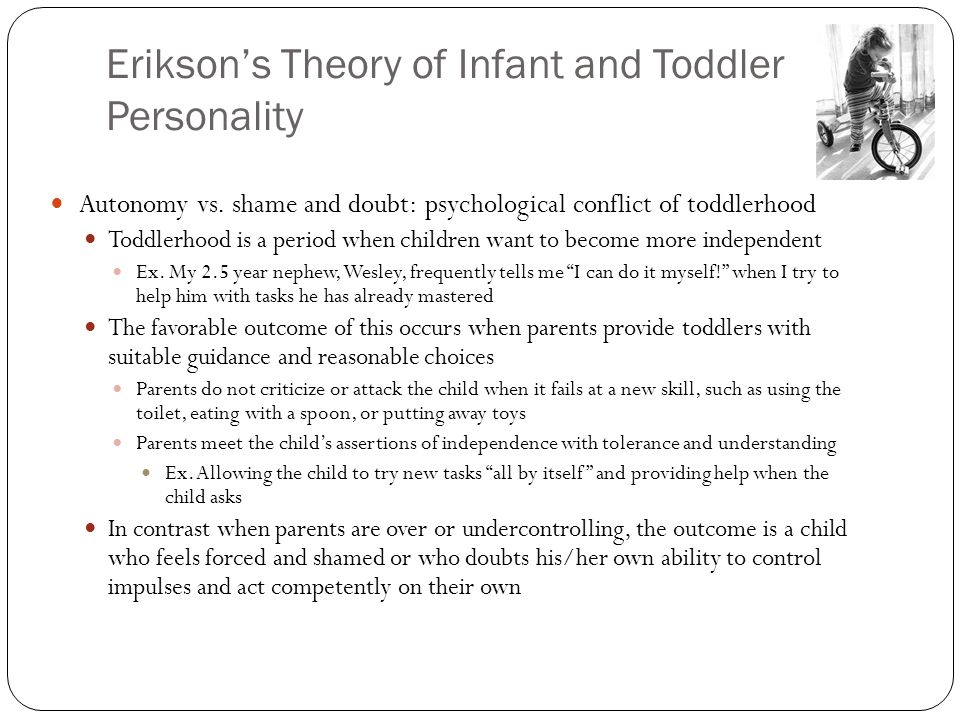 Erikson's Theory of Infant and Toddler Personality