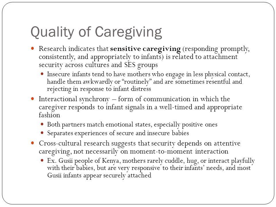 Quality of Caregiving