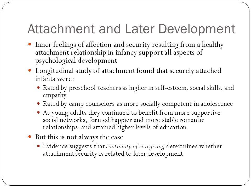 Attachment and Later Development