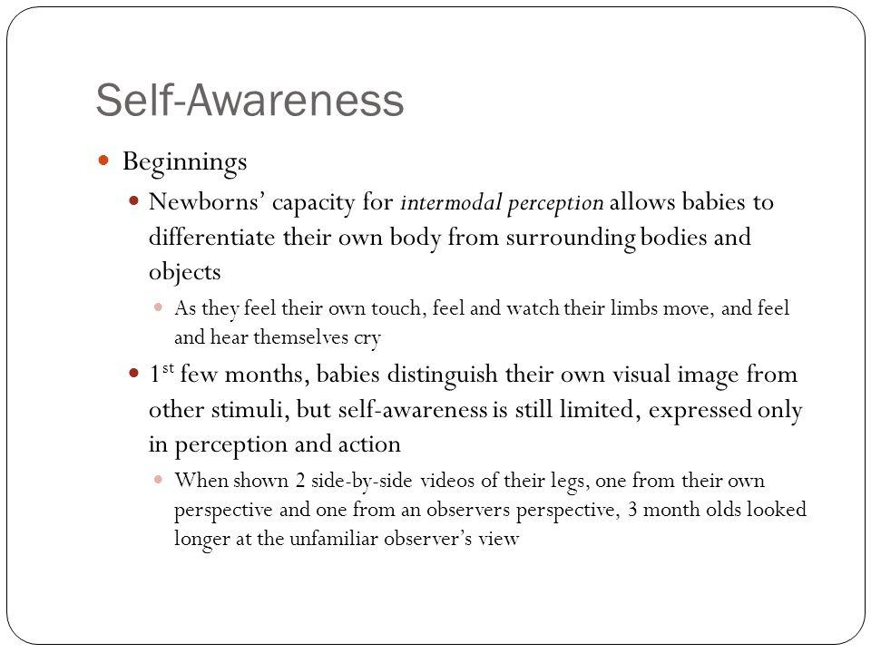 Self-Awareness Beginnings